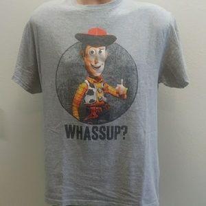 Disney pic at woody shirt